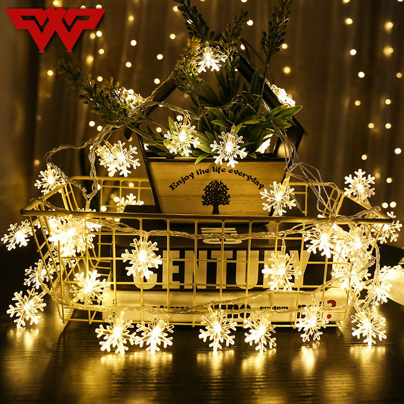 <font><b>10M</b></font> <font><b>100Leds</b></font> <font><b>220V</b></font> Christmas Tree Snow Flakes Led String Fairy Light Xmas Party Home Wedding Garden Garland Christmas Decorations image