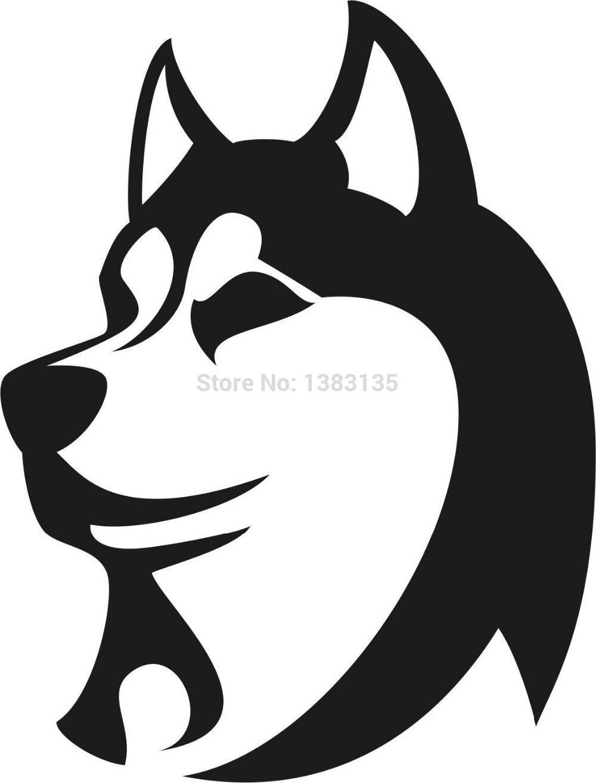 ღ ღwholesale 50 Pcs Lot Husky Cute Dog Car Sticker For Truck
