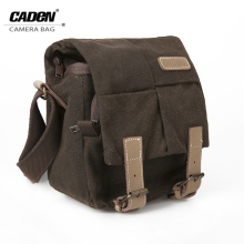 CADEN Shoulder Camera Photo Bags Sling Canvas Soft Bag For Men Digital Camera Video Case Backpack Coffee Bag For Canon Nikon N1