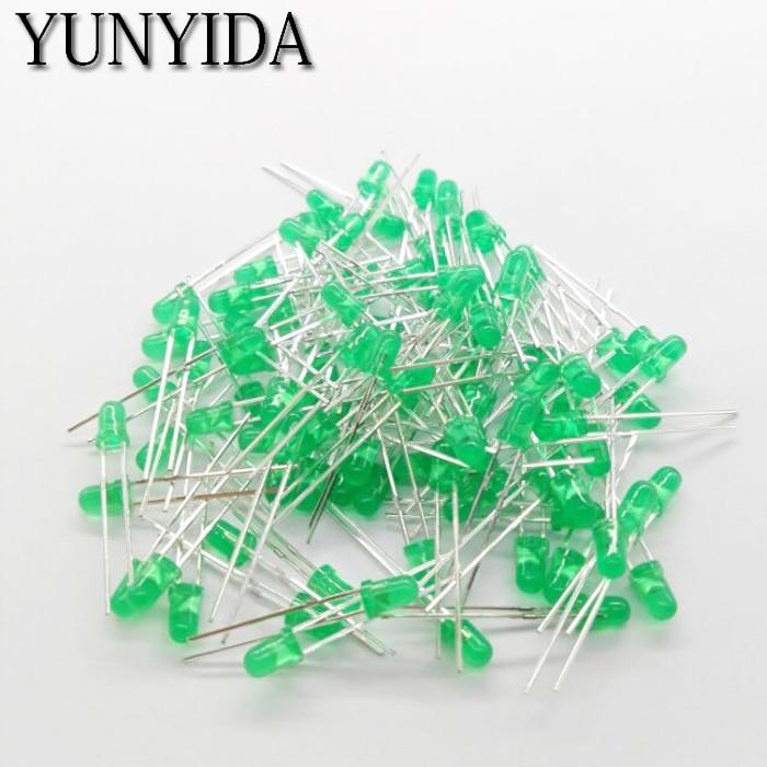 Green   3mm  LED   Green  light-emitting diode  100pcs/lot