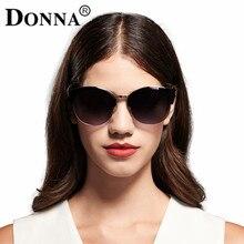 Cat eye солнцезащитные очки женщины донна зеркало моды полукадр hd объектив марка брендовые очки для леди женщина d13