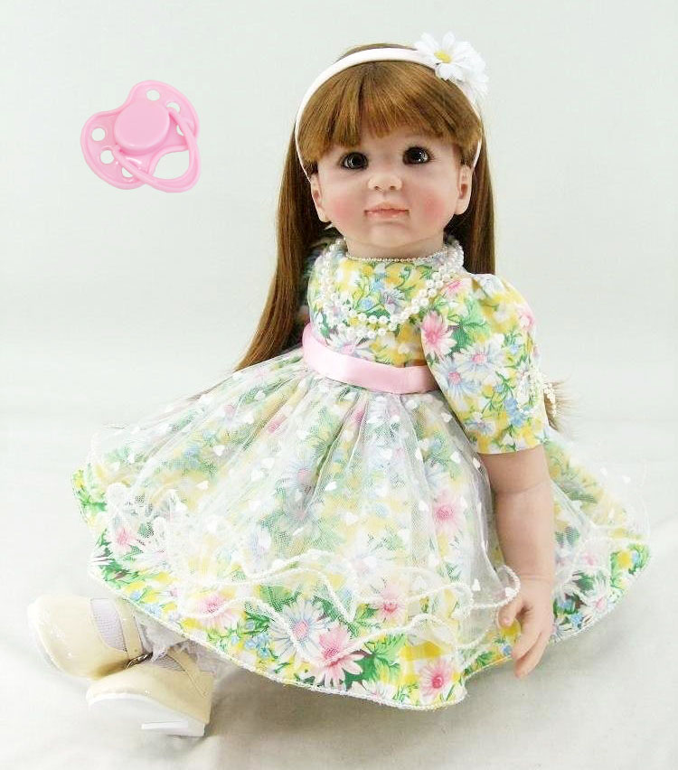 60cm Silicone Reborn Baby Doll Toys Lifelike Vinyl Princess Toddler Dolls Kids High Quality Birthday Gift Girls Brinquedos цены