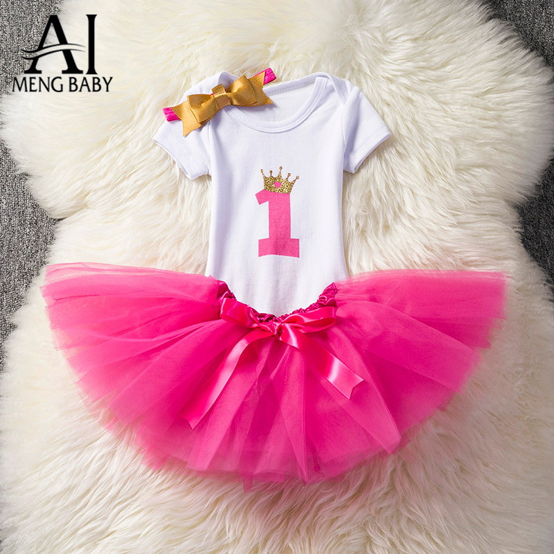 Ai Meng Baby Girl Dresses Summer Kids Newborn Girls Clothes Sets Girl Wedding Dress Part ...