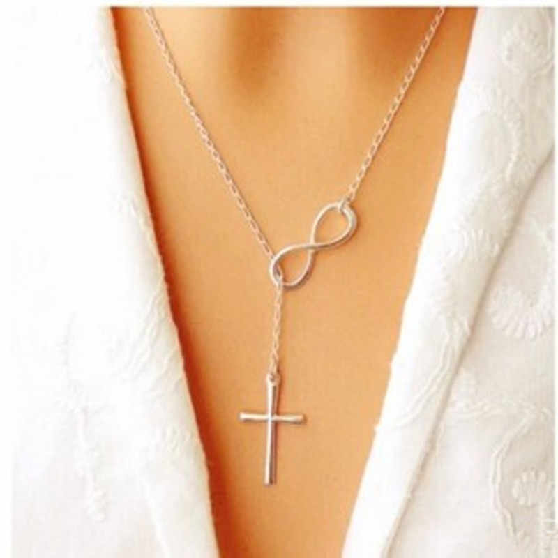 2016 new Korean fashion 8 words cross necklace fashion necklace jewelery girls