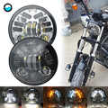 5 3/4 5.75 inch led projector headlight White DRL Yellow Turn signal lights For Yamaha V-Star XVS 250 650 950 1100 1300