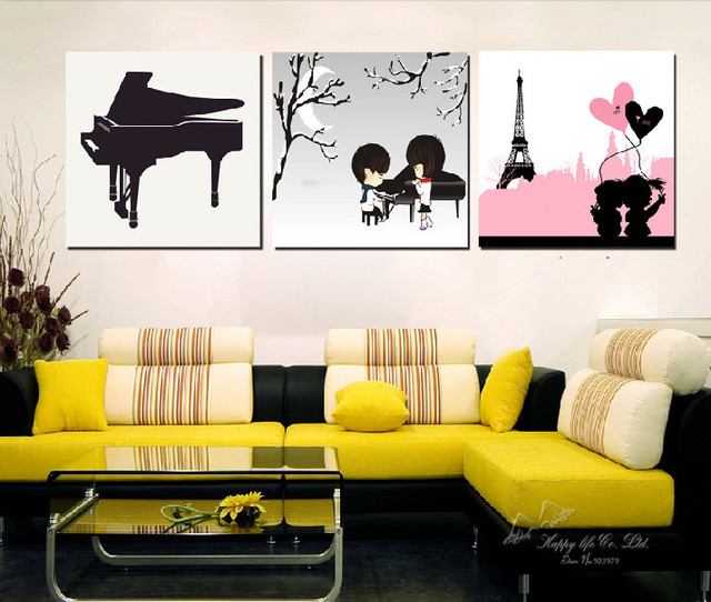 Art Picture oil painting Canvas Prints wall art 3 Pieces Modern ...