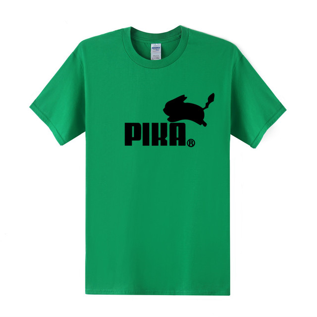 Pokemon Pikachu as Puma Symbol T-Shirt (21 Colors)