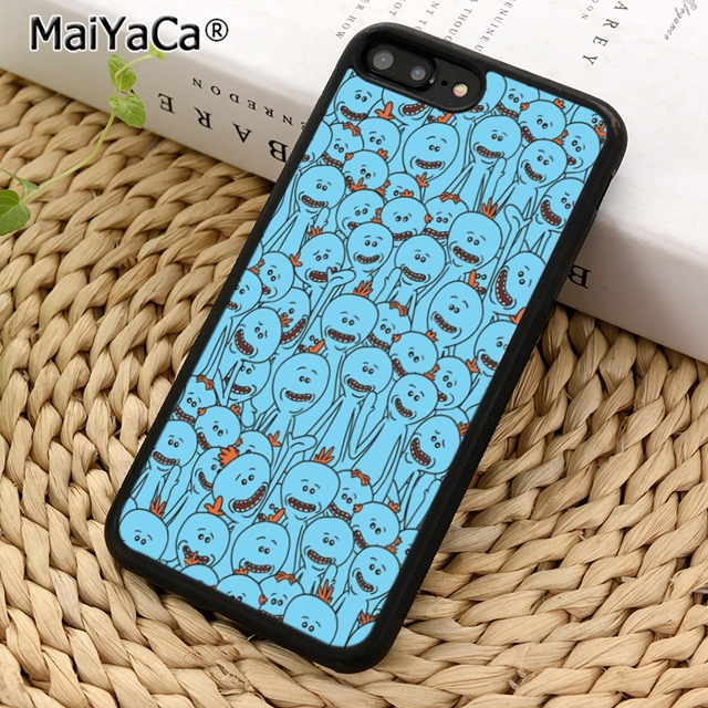 hot sale online 68b1f ea438 MaiYaCa Rick and Morty Mr Meeseeks Phone Case Cover for iPhone 5 5s SE 6 6s  7 8 X XR XS max samsung galaxy S6 S7 edge S8 S9 Plus