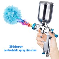 Air Spray Machine with Gravity Feed Container Hand Manual Spraying Painting Tool paint gun spray gun Stainless Steel DIY