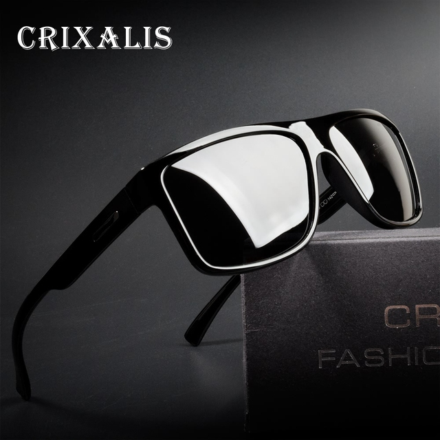 693d3ac2de3 Crixalis Polarized Sunglasses Men Fashion Square Frame Driving Sunglass  Male UV400 HD Mirror Goggles Shades oculos Retro CL3348