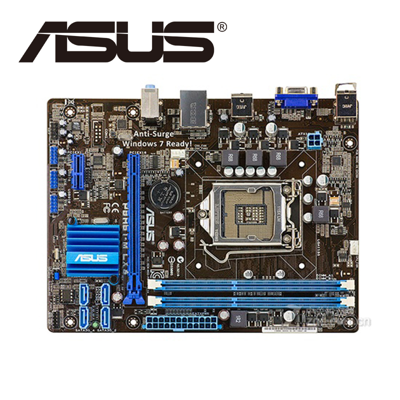 Asus P8H61-M LX3 Desktop Motherboard H61 Socket LGA 1155 i3 i5 i7 DDR3 16G uATX UEFI BIOS Original Used Mainboard On Sale asus m5a78l desktop motherboard 760g 780l socket am3 am3 ddr3 16g atx uefi bios original used mainboard on sale