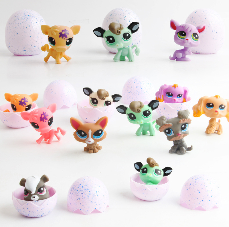 2018 LPS Unicorn Hatching Egg Magic Surprise Vinyl Dolls Pet Toy Cartoon Animal Dinosaur Eggs Ball Kawaii Gift Toys for Children