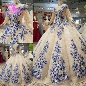 Image 1 - AIJINGYU Wedding Dressesing Gowns Luxury Dresses White Ball Pakistani Buy In Dubai Rhinestone Gown Korean Dress Wedding