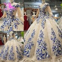 AIJINGYU vestidos de boda de lujo, bola blanca, paquistaní, comprar en Dubái, vestido de novia coreano con diamantes de imitación