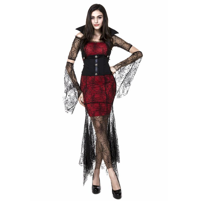 Lace Gothic v&ire halloween costumes for woman devil witch costume fancy dresses carnival costume cosplay women costumes on Aliexpress.com   Alibaba Group  sc 1 st  AliExpress.com & Lace Gothic vampire halloween costumes for woman devil witch costume ...