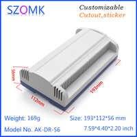 4 pcs193*112*56mm new plastic din rail instrument housing for energy meter smart home PLC electronic plastic device box
