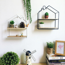 Wall Decoration Storage Shelf Vintage Metal Iron Sundries Storage Rack Decorative Wall Shelves Organizador Flower Pot Holder
