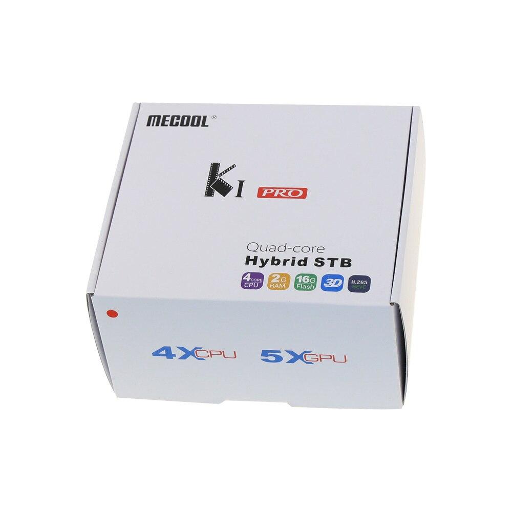 Boîtier TV intelligent MECOOL KI PRO DVB Android 7.1 DVB-T2/DVB-S2/DVB-C Amlogic S905D Quad 2GB + 16GB boîtier décodeur PK KII PRO - 5