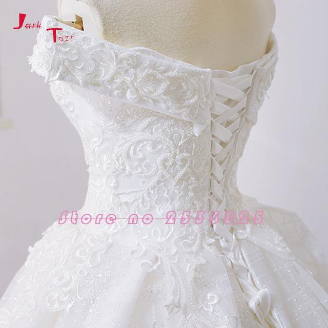 Off The Shoulder Short Sleeve Gorgeous Princess Ball Gown Wedding Dresses Vestidos De Noiva Princesa