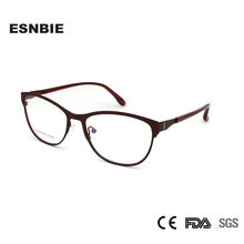97dfed0f05b ESNBIE Women Cat S Eye Spectacle Frames For Ladies Fashionable Eyeglasses  Women S Frame Anteojos Opticos Mujer De Metal Eyewear