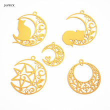 DIY Filler Epoxy Resin Mold Craft Decoration Gold Moon Cat Floral Hollow Filling Jewelry Making Necklace Pendant Accessories(China)