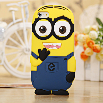 3D Despicable Me Soft Silicon Phone Case For iPhone 7 Plus 4 4S 5 5S SE 5C 6 6S Plus