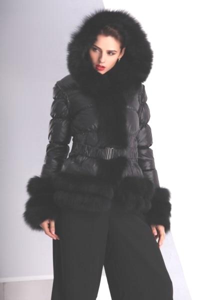 Transporti falas pricemimi i fabrikës së stilit të ri, gratë e dimrit, pallto tufë leshi trefishtë lesh dhelpër