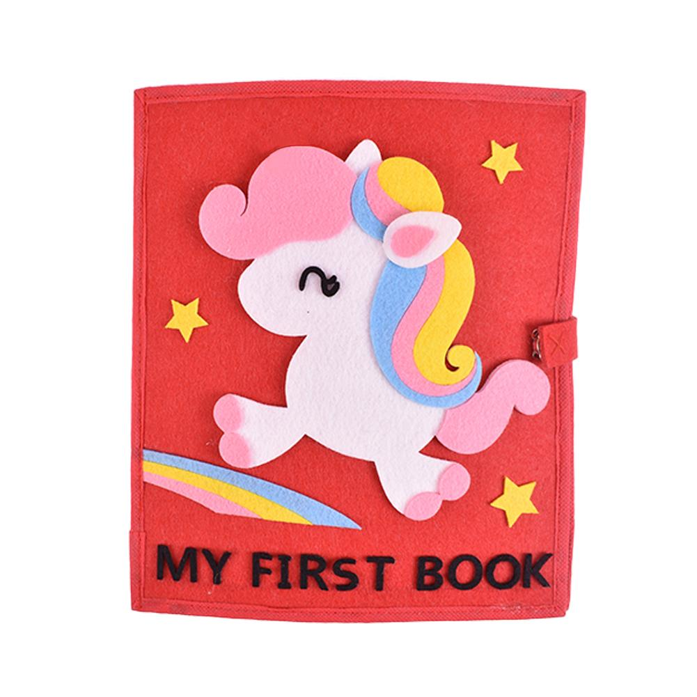 Cloth Book Nonwoven Material Boys Girls Child Toy Educational Washable Multi functional Cloth Book Baby First Book