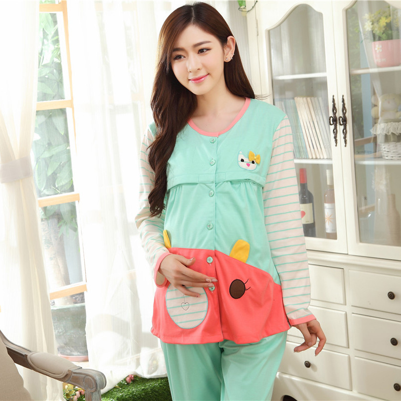 2016 Broadcloth Rushed Full Wholesale Women Fall Confined Clothing Cotton Loose Household To Take Two Woolly Mammal Pajamas