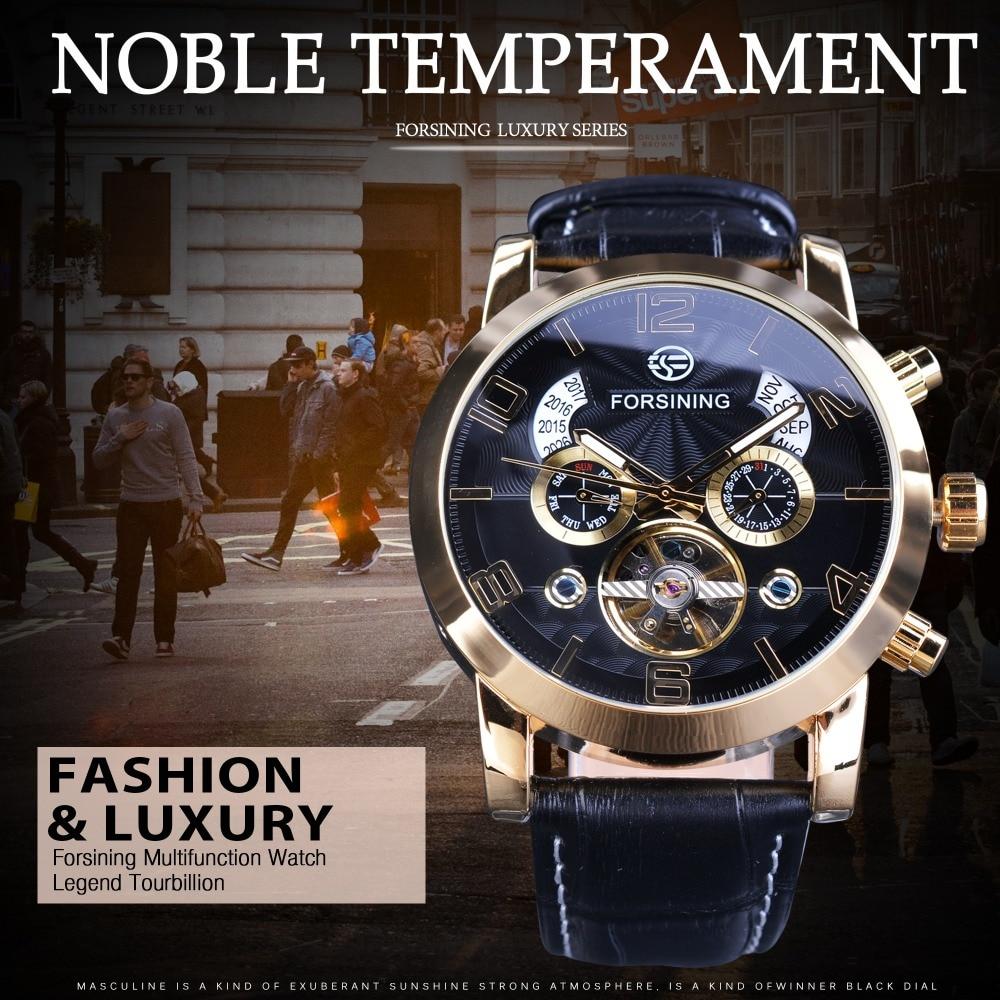 Forsining Golden Bezel Tourbillion Ανδρικά ρολόι - Ανδρικά ρολόγια - Φωτογραφία 2
