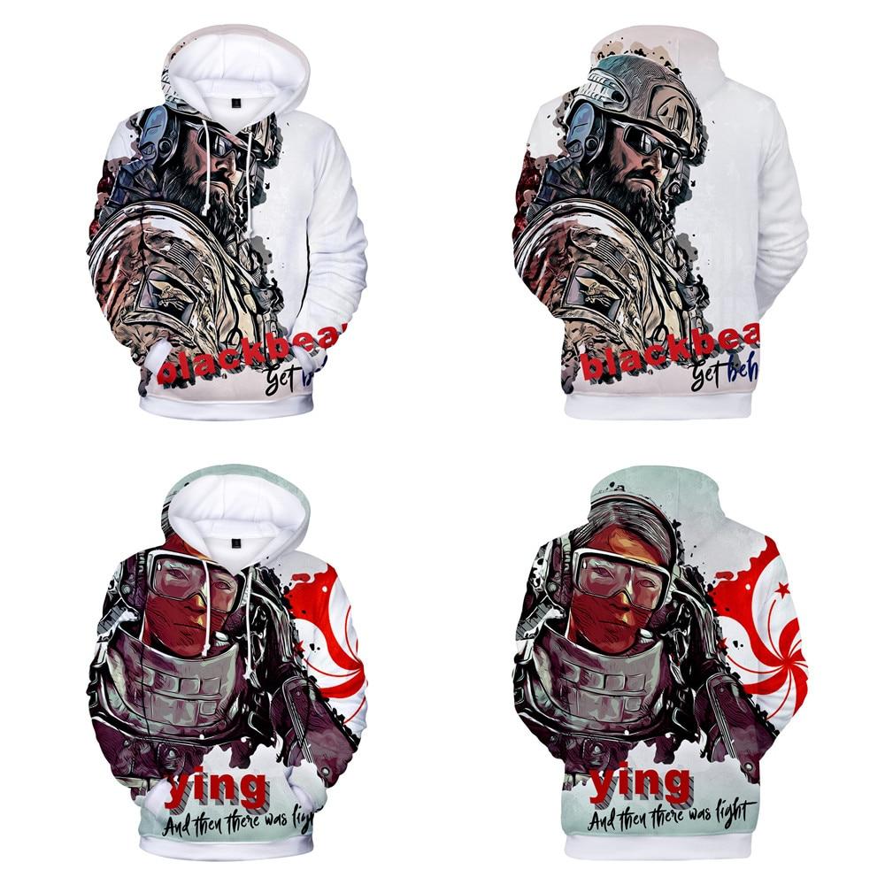3D Print Rainbow Six Siege hit Hot cotton Hoodie Sweatshirt Electronic Game Jacket Hoodie Spring/Autumn Casual sprotWear Cosplay