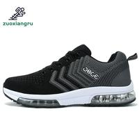 Zuoxiangru Men's Sport Running Shoes Max Air Music Rhythm Women Sneakers Breathable Mesh Outdoor Athletic Shoe Light Male Shoe