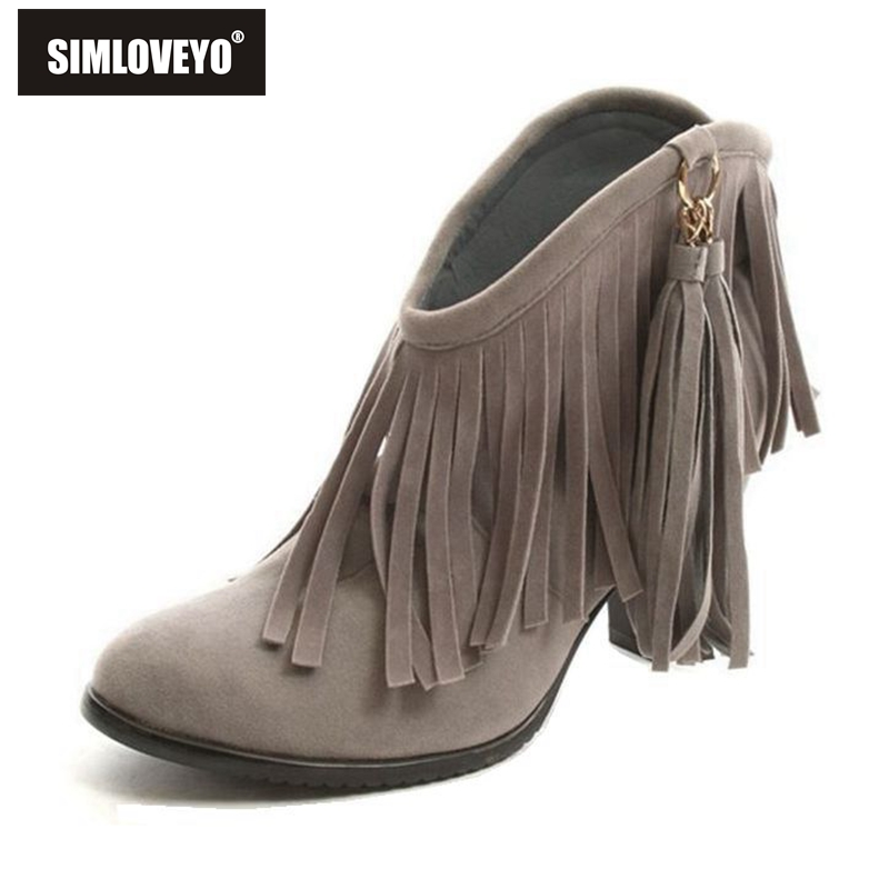 Online Get Cheap Ankle Fringe Boots -Aliexpress.com | Alibaba Group