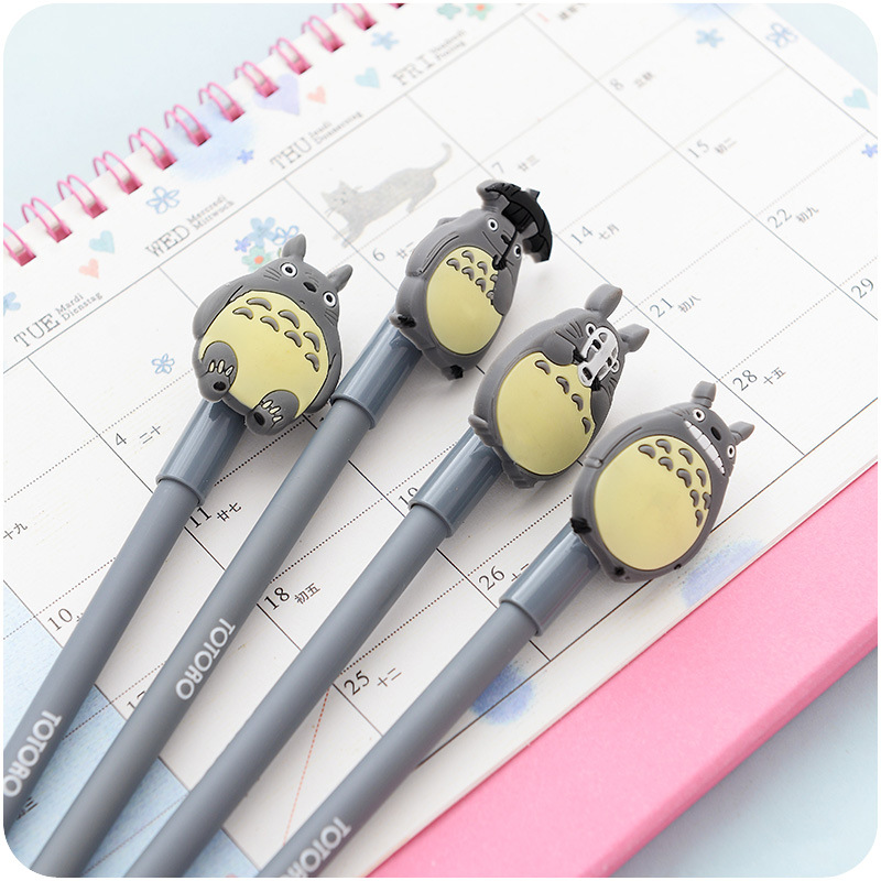 12 Pcs Novelty Cute My Neighbor Totoro Gel Ink Pen Signature Pen Escolar Papelaria School Office Supply Promotional Gift