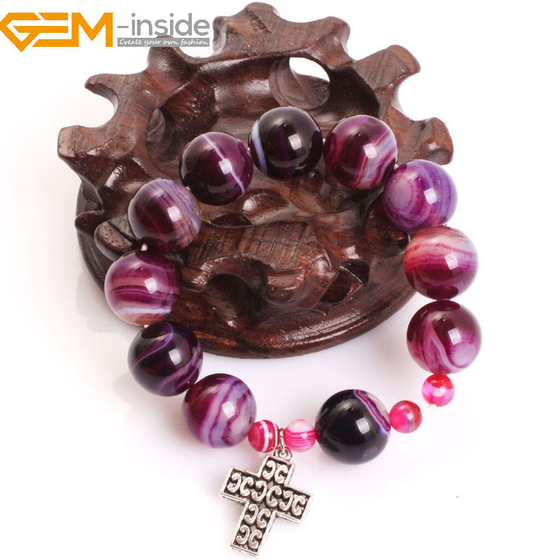 Gem-inside Natural Mala Anglican Muslim Catholic Christian Episcopal Prayer Rosary Beads Bracelet For Men Women Gift