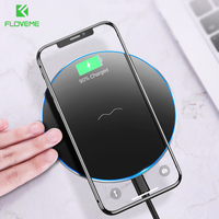 FLOVEME Qi Wireless Charger For Samsung S9 S8 Plus S7 Edge 10W Fast Wireless Charging Charger