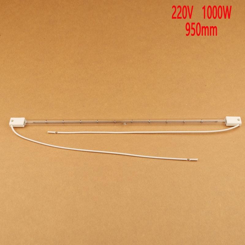 vacuum halogen lamp, infrared heating tube, IR element,transparent quartz tube 950mm 220V 1KW