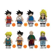 Single Sale PG8166 Dragon Ball Goku Son Goten Gotenks Trunks Tien Shinhan Android 18 Legoingly Building Blocks Toy Children Gift(China)