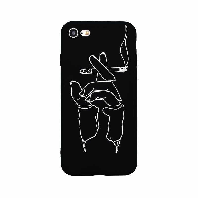 Сверхтонкий Мягкий чехол для iphone 8, 8 plus художественные абстрактные силиконовый для овала лица fundas для iphone x 7 plus iphone 7 6 5 6s 5S 5 SE