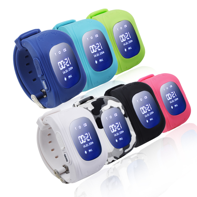 9Tong Kid GPS Watch Q50 OLED Screen Smart Watch Children Smart Watch GSM GPS Locator Anti-Lost Smartwatch For iOS Android C8