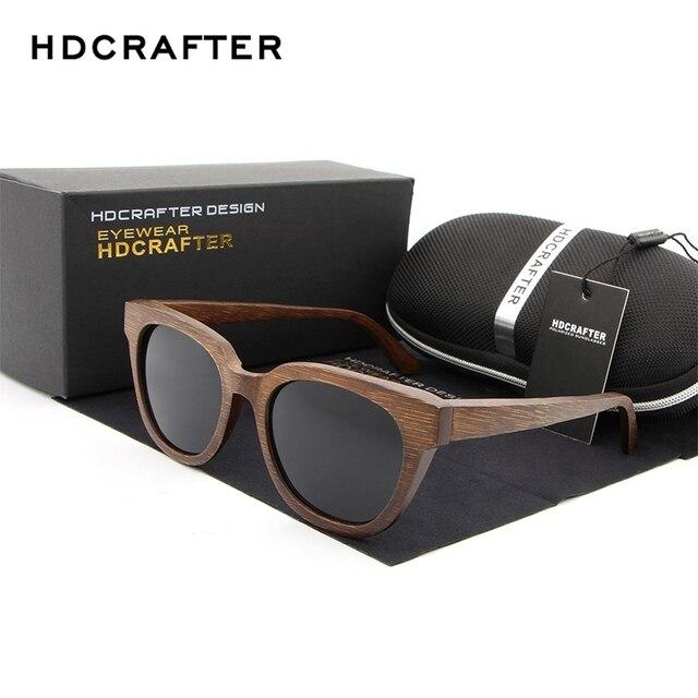 Hdcrafter gafas marcos de madera sunglass polarizado Gafas de Sol para  hombres mujeres madera de bambú 1627b5b73e97