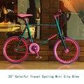 "20"" Colorful Purple Travel Cycling Single Speed Cruiser Female Bicycle Girl Childen' Bike Relaxation Road Bike Mini City Bike"