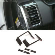 Carbon Fiber Style For Land Rover Range Rover Sport RR Sport 2014-2017 ABS Dashboard Side Air Conditioning Vent Frame Cover Trim