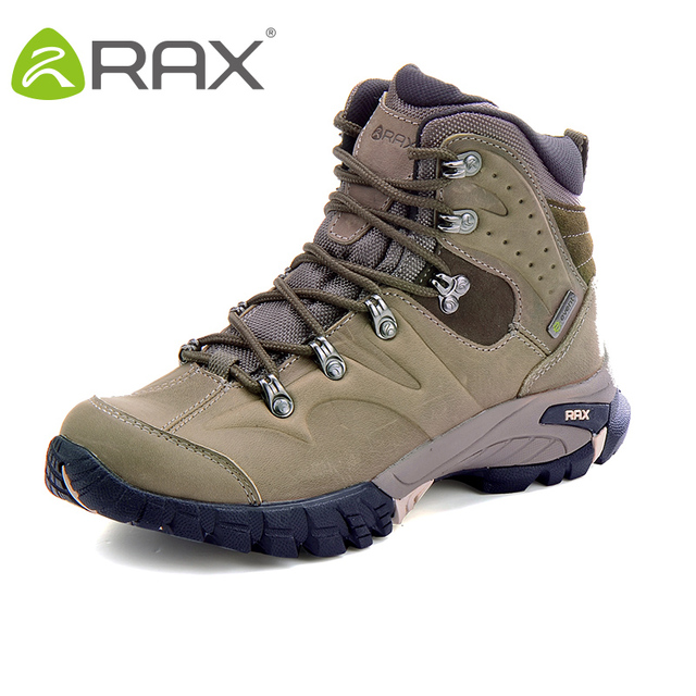 RAX Hiking Boots Men Waterproof Outdoor Sports Sneakers for Men Women Mountain Climbing Shoes men Trekking Shoes Genine Leather