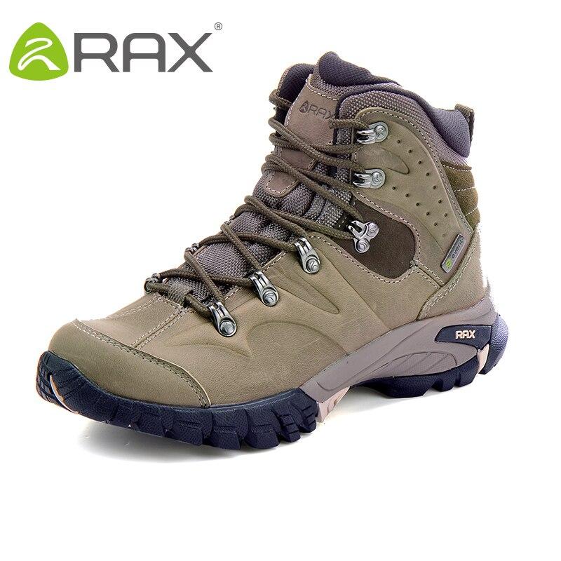 RAX Randonnée Bottes Hommes Étanche Sports de Plein Air Sneakers pour Hommes Femmes Montagne Escalade Chaussures hommes Trekking Chaussures En Cuir Genine