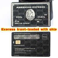 Spedizione gratuita! American Express Centurion Carta fatta da metallo! Su Misura! (Senza striscia Magnetica)