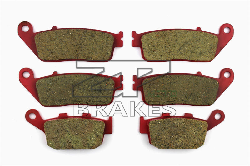 Brake Pads Ceramic For Front + Rear HONDA CBR 400 RR (NC23) Tri-Arm 1987-1989 OEM New High Quality ZPMOTO high quality carbon ceramic road brake pads for honda cb 400 nc31 97 front