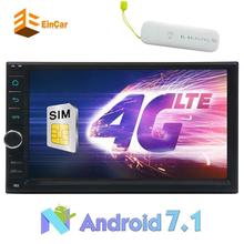 4G included Android 7.1 GPS navigation 2 din car audio Bluetooth headunit support 1080p video USB/SD car autoradio stereo OBD2