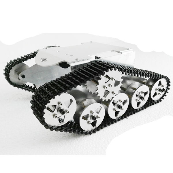 Aluminum Alloy Tracked Vehicle Off-road Vehicle Robot Tank Chassis for DIY mymei