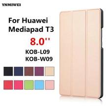 Caja de La tableta De Huawei Mediapad T3 8 Soporte Flip Cubierta de Cuero Para Honor Juego Pad 2 8.0 pulgadas KOB-L09 KOB-W09 + protector